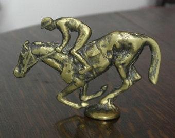 vintage breass race horse ornament
