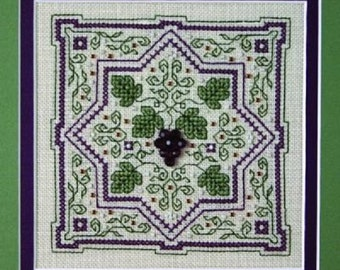 Sweetheart Tree Grapes on the Vine Counted Cross Stitch Kit