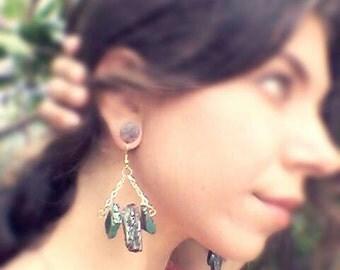 Gypsy Boo Love, Triangle Earrings, Chain Earrings, Made With Love