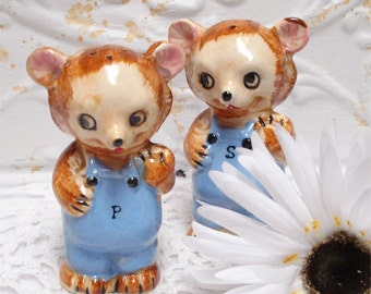 Vintage Bear Anthro Shakers Japan