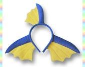 Vaporeon Ears Headband - Fleece Anime Geek Gift Eevee Pokemon Blue Yellow Cute Kawaii Cosplay Ears Adult Teen Child