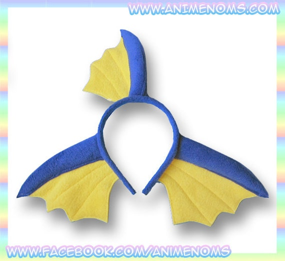 VaporeVaporeon Ears Headband - Fleece Anime Geek Gift Eevee Pokemon Blue Yellow Cute Kawaii Cosplay Ears Adult Teen Childon Inspired Headband