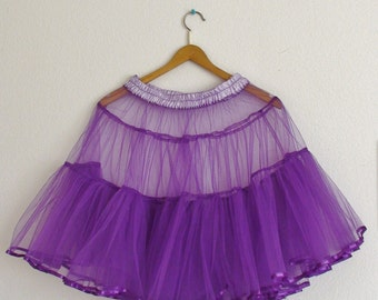 Purple Petticoat Underskirt Medium Volume
