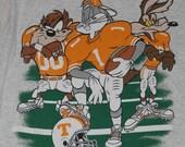 Vintage 1990's University of Tennessee Volunteers Football Bugs Bunny T-Shirt Retro Original