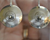 "sterling disk earrings.  ""littleittybittytitties"""