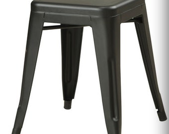 "Custom Painted Tolix Style Mini Stool in the Color of your Choice 18"" Height"