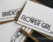Thank You Cards for Bridesmaid, Maid of Honor, Groomsman, Flower Girl, Ring Bearer, Bridesman - Wedding Thank You Cards Bridal Party CS10