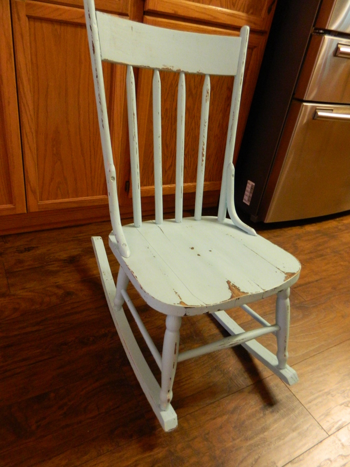 Wonderful image of Vintage Wood Rocking Chair Rustic Shabby Chic by 3sisterstreasures with #331003 color and 1125x1500 pixels