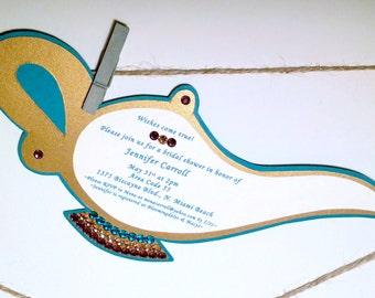Genie Lamp Invitations with Swarovski Crystals