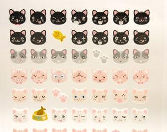 Cat - Funny Sticker World - 3D PVC Deco Sticker - 1 Sheet