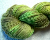 REDUCED - Forest Ferns Merino Wool 4-ply sock yarn, hand dyed / painted