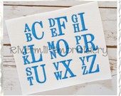 "Boys Stacked Monogram Machine Embroidery Alphabet Font - 1 1/2"" Size ONLY"