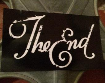 The End vinyl sticker