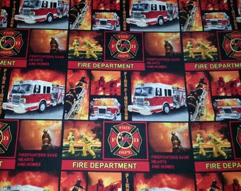 Fire Department Cotton/Fleece Blanket 22x22 Personalized