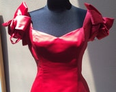 Red Satin Mermaid  VALENTINES Gown