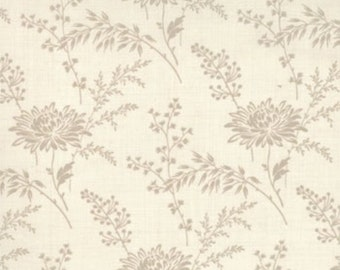 FRENCH GENERAL FAVORITES Moda by the half yard cotton quilt fabric oyster flowers on pearl cream 13527-14