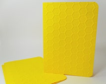 Honeycomb Cards, Blank Cards 5x7, Honey Bee Cards, Hexagon Cards, Bee Blank Cards, DIY Cards Honeycomb, Bee Keeper Cards, Embossed Cards
