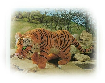 BENGAL TIGER knitting pattern by Georgina Manvell PDF download