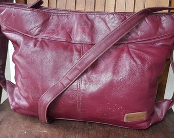 WINE   ///   Worn Leather Purse