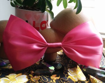 SALE Pink Hair Bow. Pastel Hair Bow. Light Pink Hair Bow. Satin Hair Bow. Handmade Hair Bow. Big Hair Bow. Kawaii Hair Bow.