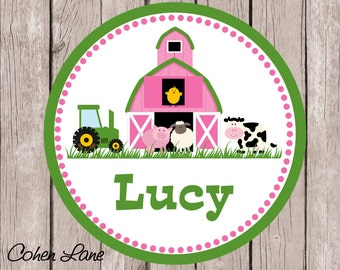 Printable Personalized Farm iron on Tshirt Transfer Design.  Barnyard Iron On Transfer.  Personalized iron on. Farm Shirt.