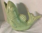 Vintage  Pottery Fish 1940's-50's