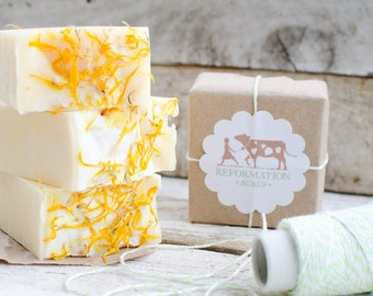 Calendula  Soap {All-Natural, Cold Process Soap, Herbal Soap, Handcrafted}