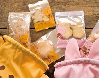 Sweet  Cookie Bread Plastic Cookie Bags(10 bags)