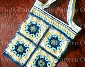 Folly Bag Crochet Pattern by Crafty Ridge -  Pattern Only -  Beach Bag - Market Bag