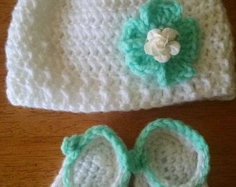 Crocheted Baby Hat and Sandals
