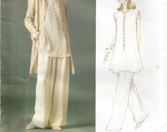 Uncut Vogue 1543 Emanuel Ungaro Vogue Paris, Jacket, Top and Pants Size 6  8  10  Bust 30.5  31.5  32.5,  Waist 23  24  25