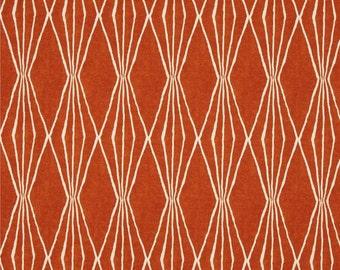 "Two 96"" x 50""  Custom  Curtain Panels - Robert Allen Handcut Diamond Prism - Orange"