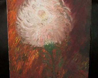 Vintage Chrysanthemum Oil Painting