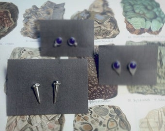 canine earrings - sterling silver
