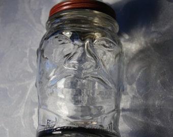Vintage Lucky Joe Bank Nash's Mustard Jar Man's Head