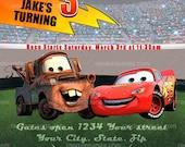 Printable Cars Invitation, CARS Party, Lightning McQueen Invite