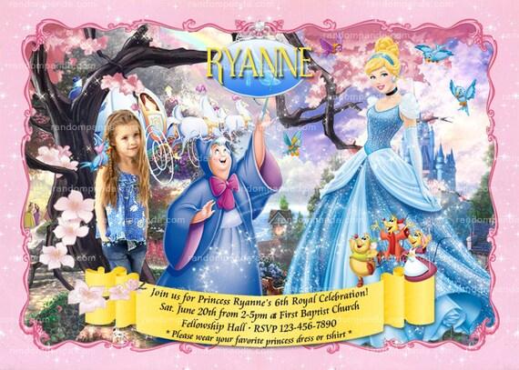 Personalize cinderella invitation disney princess party cinderella il570xn filmwisefo