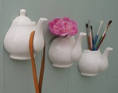 Teapot wall hanging vase with lid