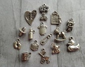 Baby Charms / Baby Shower Corsage / Baby Onesie / Baby Bottle / Baby Footprints / Baby Stroller / Duck / Race Car / Teddy Bear / Baby Block