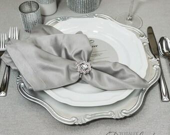 1pc Napkin Ring, Rhinestone Wedding Napkin Rings Table Decor Wedding Bling, 323-S-N
