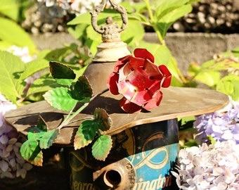 """Birdhouse, Metal Birdhouse, Reclaimed Objects Birdhouse, """"Rose Garden"""""""