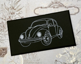 Volkswagen VW Beetle Bug Illustration Classic Car Wooden Hanging Sign Plaque Hand Painted Gift