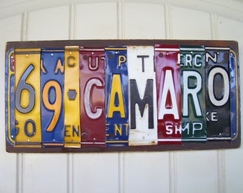 Muscle Car '69 CAMARO license plate sign