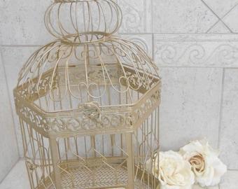 XL Champagne Gold Wedding Birdcage Card Holder / DIY Wedding / DIY Birdcage / Extra Large Birdcage