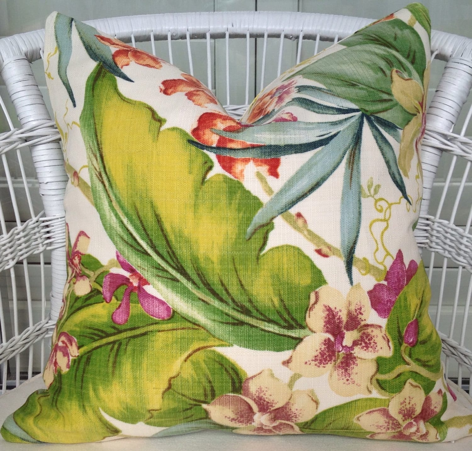 Tommy Bahama Tropical Orchid Outdoor Fabric Pillow By