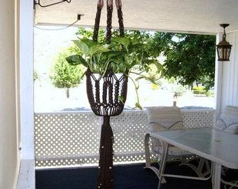 Plant hanger,Macrame plant hanger, brown plant hanger