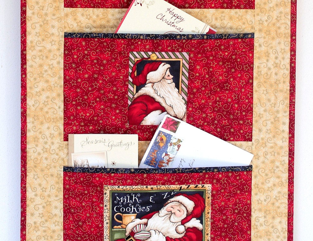 christmas card holder quilted wall hanging letter organizer