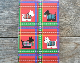 SALE - Scottish Terrier Embossed Christmas Wrapping Paper, 2 Feet x 10 Feet