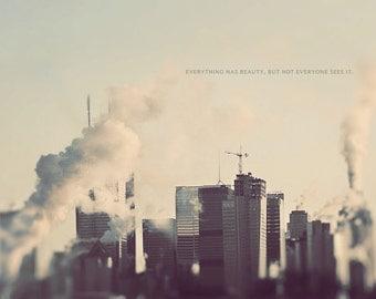 Toronto Skyline Art, Toronto Photogrpahy, Toronto Art, Toronto Cityscape, Quote On Photography, Toronto Wall Art, Home Art Decor