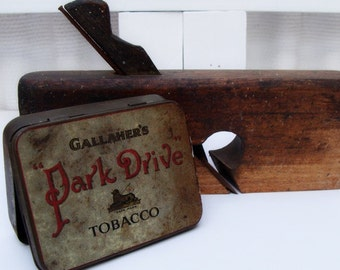 Vintage Tobacco Gallahers Park Drive Tin Rustic